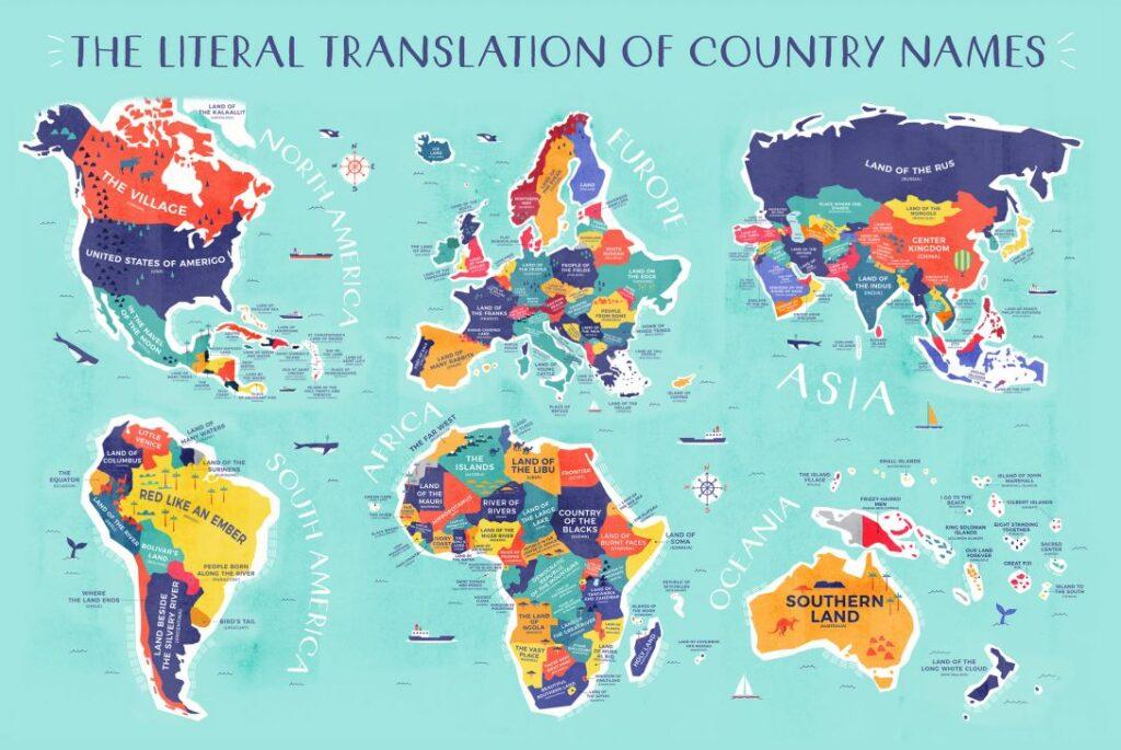 ¿De dónde provienen los nombres de los países y cuál es su significado?